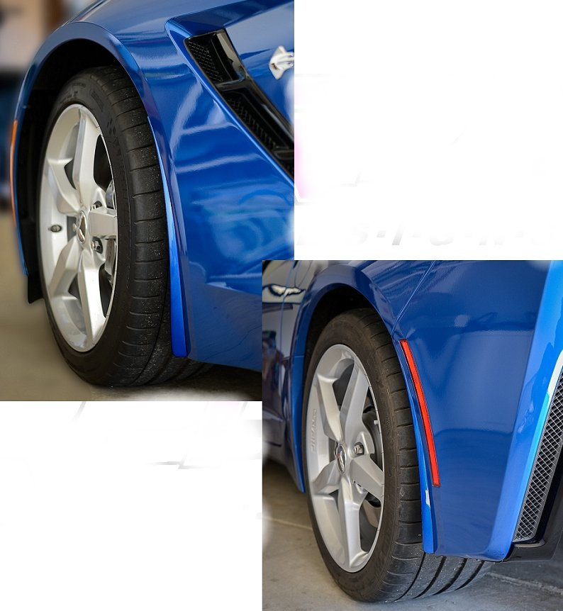 C7 Corvette Stingray and Z06 Painted Body Color Splash Guards Kit