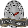 C6 Corvette Metal Sign Private Parking Hot Rod C6 Emblem 18 x 14 ""