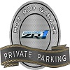 "C6 Corvette-METAL SIGN - PRIVATE PARKING - C6 ZR1 - 18"" X 14"""