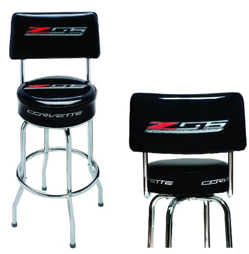 C7 Z06 Corvette Bar Stool With Back Rest  sc 1 st  RPI Designs : bar chair with back - Cheerinfomania.Com