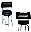 C7 Z06 Corvette Bar Stool With Back Rest