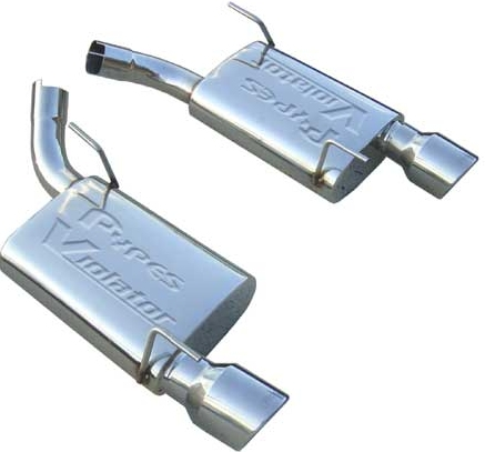2005-2010 Mustang Fully Polished Pypes Violator Exhaust