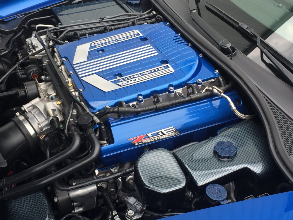C7 Corvette Z06 Painted Supercharger Engine Cover