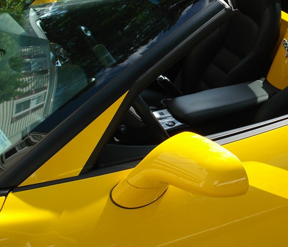 C6 Corvette Painted A-Pillar Trim
