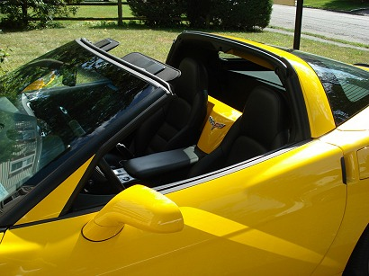 C6 Corvette painted a pillar trim panels