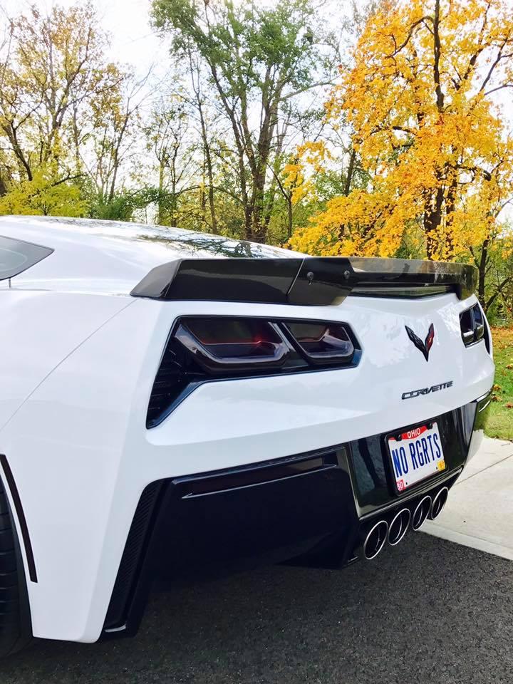 C7 Corvette Stingray Z06 style Carbon Fiber Rear Spoiler by APR