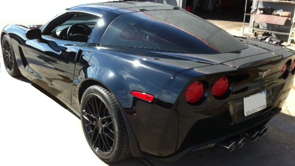 C6 Corvette coupe painted wide body quarter panels