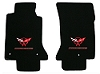 C5 Corvette Lloyd Classic Loop Front Floor Mats Double Logos Red