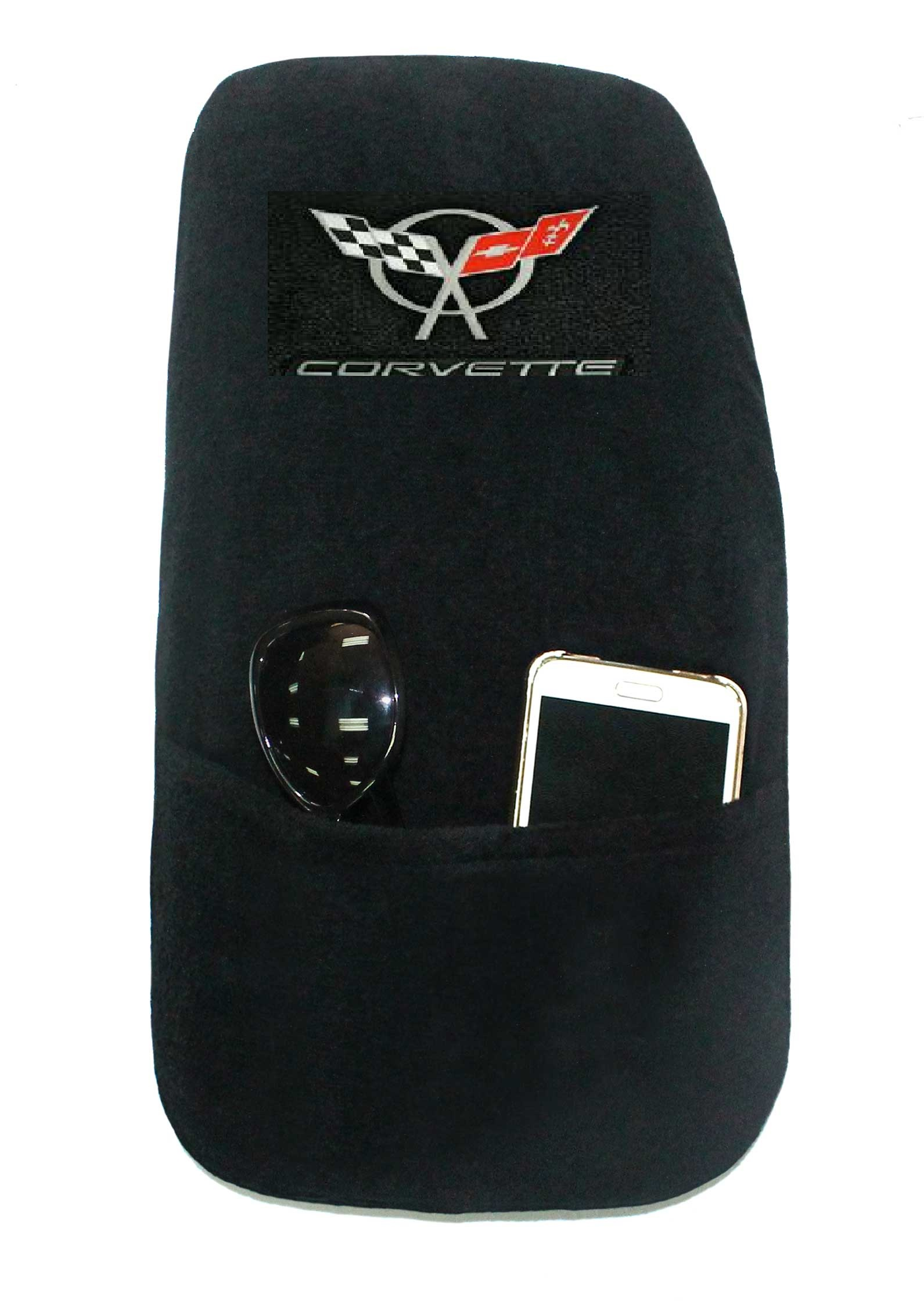 1997-2004 C5 Corvette Embroidered Emblem Center Console Cover