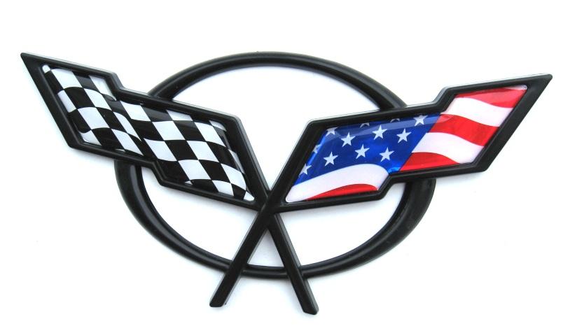 c5 american flag emblem inserts quality gel inserts - Corvette C5 Logo Wallpaper