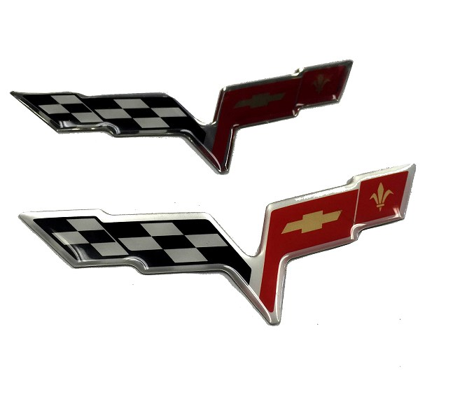 c6 corvette domed airbridge air bridge decal emblem