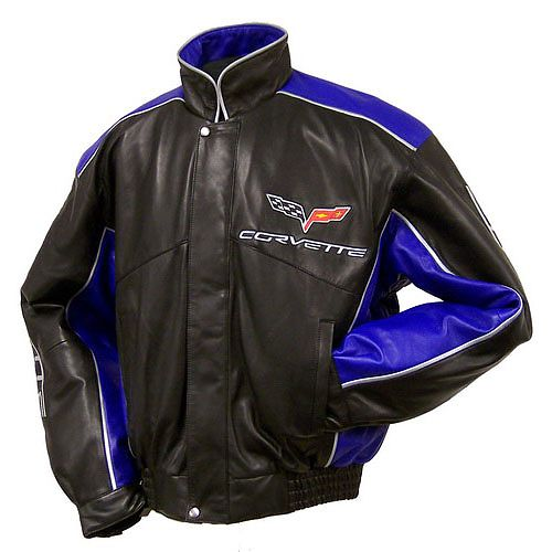 C6 Performance Two Tone Lambskin Leather Jacket