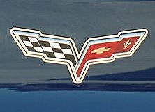 C6 Corvette Waterfall Emblem Surround