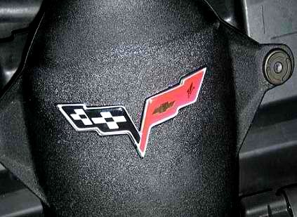 C6 Corvette Flag Emblem Air bridge Decal Domed Airbridge