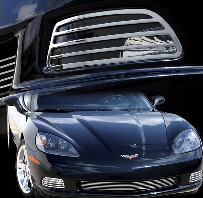C6 Corvette Billet Aluminum Front Driving Light Covers