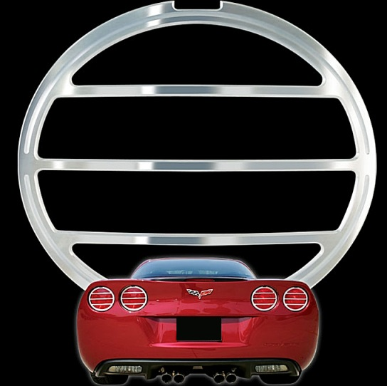 C6 Corvette Billet Tail Light Bezels