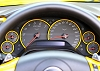 C6 Corvette Painted Dash Gauge Bezels