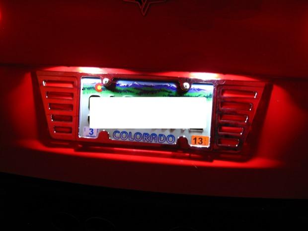c6 corvette led license plate frame lighting kit
