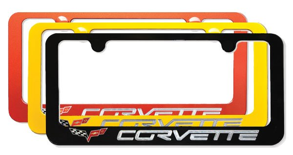 C6 Corvette Painted License Plate Frame w/Logo