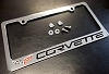 C6 Corvette License Plate Frame w/caps