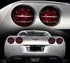 C6 Corvette  Billet Tail Light Covers Set