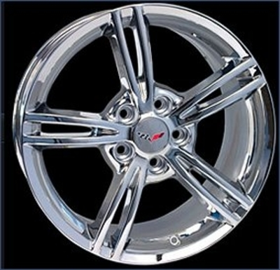 C6 Chrome plated reproduction wheels