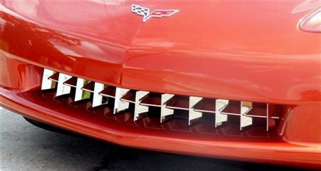 C6 Corvette Retro Style Stainless Chrome Grille