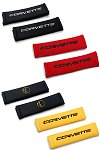 C6 Corvette Seat Belt Shoulder Pads With Embroidered Logo