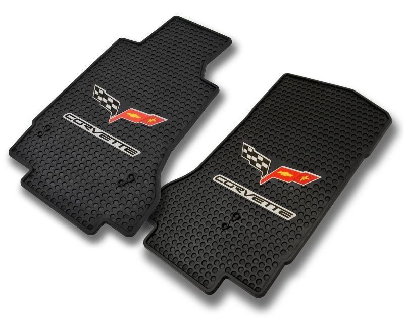 C6 Corvette Signature Floor Mats Rubber W Logo