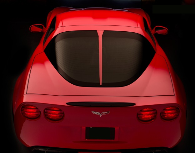 C6 Corvette Body Color Painted Rear Window Trim