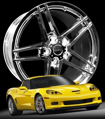 C6 & C6 Z06 Chrome plated reproduction wheels