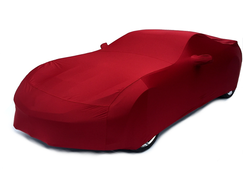 C7 Corvette Car Cover-Crystal Red Metallic Color Matched Indoor