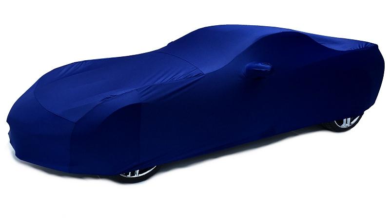 C7 Corvette Stingray Car Cover Indoor Super Stretch Extra Soft Color Matched Laguna Blue