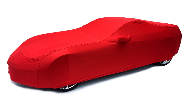 C7 Corvette Stingray Car Cover - Indoor Super Stretch Extra Soft - Color Matched Torch Red