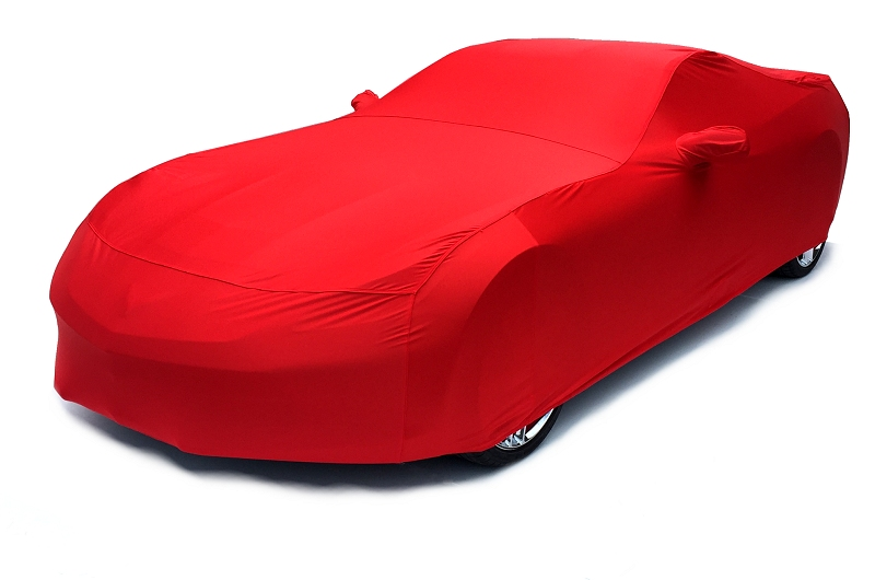 C7 Corvette Car Cover- Torch Red Color Matched Indoor Stretch