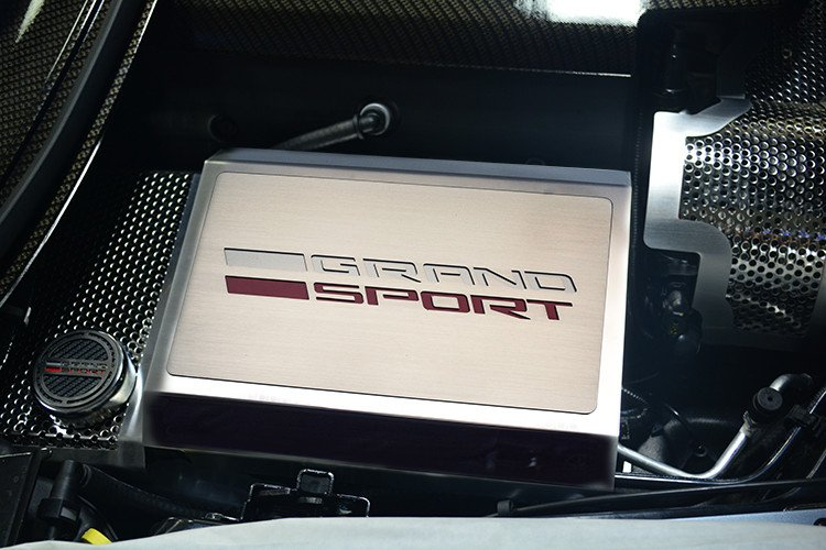 C7 Corvette Grand Sport Logo Stainless Steel Fuse Box Cover