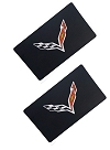 C7 Corvette Visor Decals with Flag Logo
