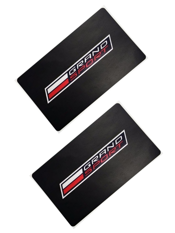 C7 Corvette Grand Sport Visor Decals with Logo