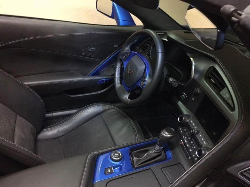 C7 Interior Door Bezel Painted Laguna Blue