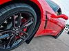 C7 Corvette Splash Guards Carbon Fiber Backing