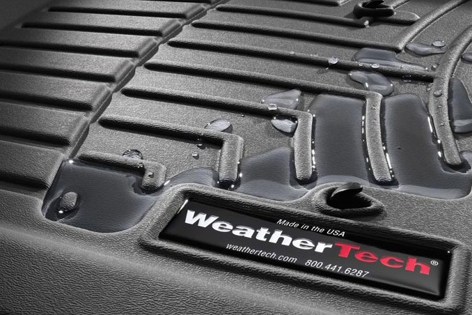 C7 Corvette Stingray WeatherTech Floor Liners - Tan