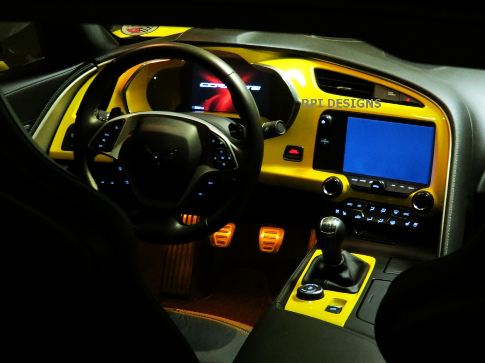 c7 corvette painted dash cluster any c7 color. Black Bedroom Furniture Sets. Home Design Ideas