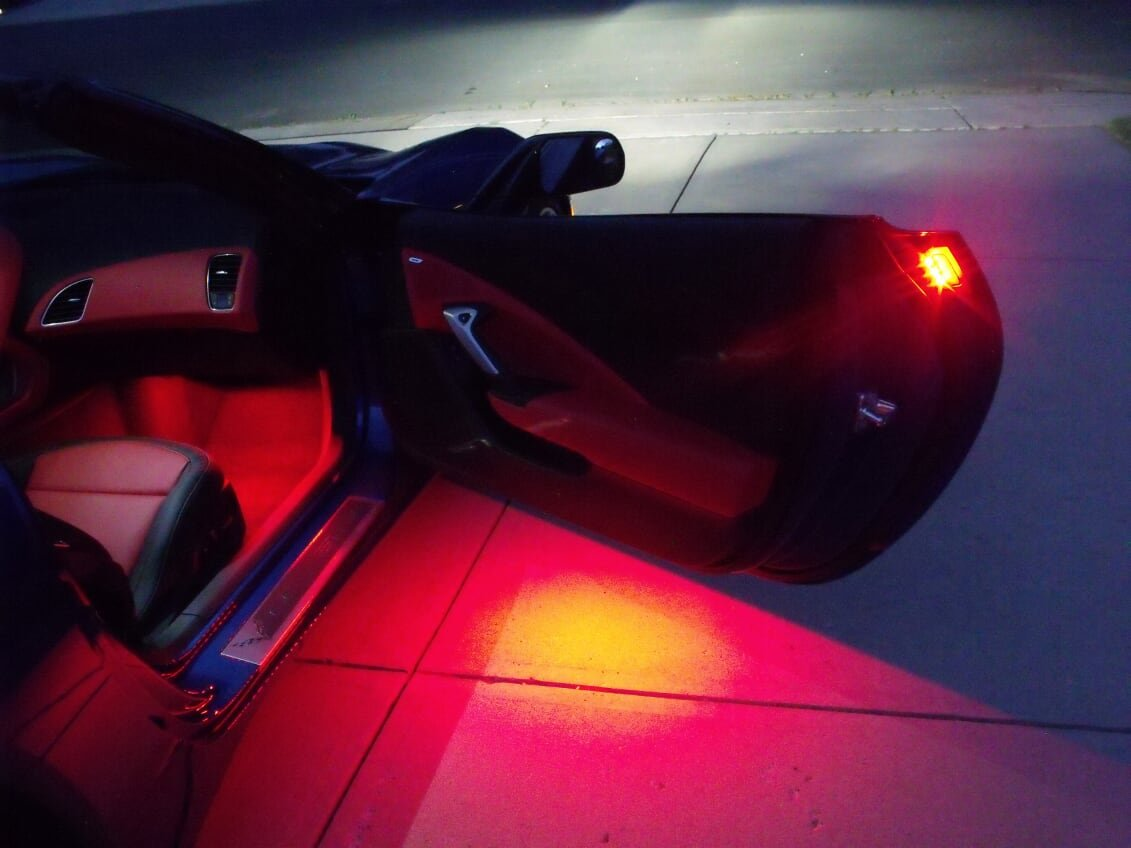 C7 Corvette Bright LED Door Handle and Under Door Puddle Lighting Kit