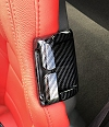 C7 Corvette Carbon Fiber Look Seat Belt Retainer Bezels Overlays