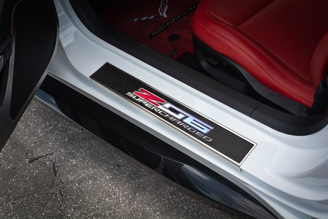 C7 Corvette Z06 LED Illuminated Logo Door Sill Plates