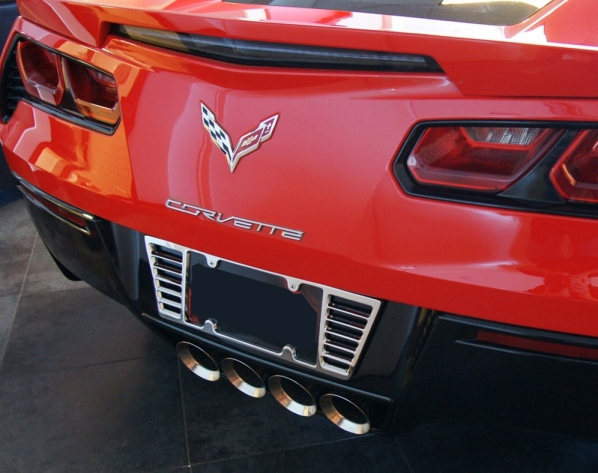 C7 Corvette Rear License Plate Frame Chrome