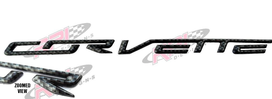 c7 corvette rear bumper letters - carbon fiber