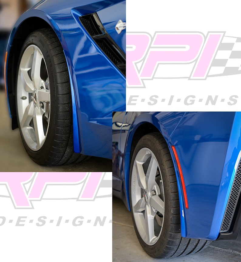 C7 Corvette Stingray and C7 Z06 Painted Body Color Splash Guards Kit