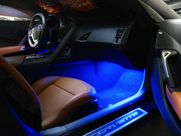 c7 corvette led footwell lighting kit. Black Bedroom Furniture Sets. Home Design Ideas