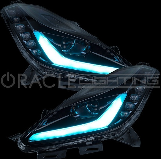 C7 Corvette Oracle Headlights Colorshift 174 Led Drl